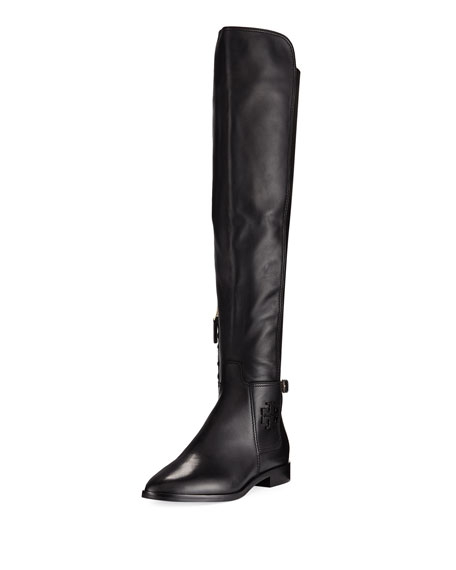Wyatt Stretch Leather Over-The-Knee Boot
