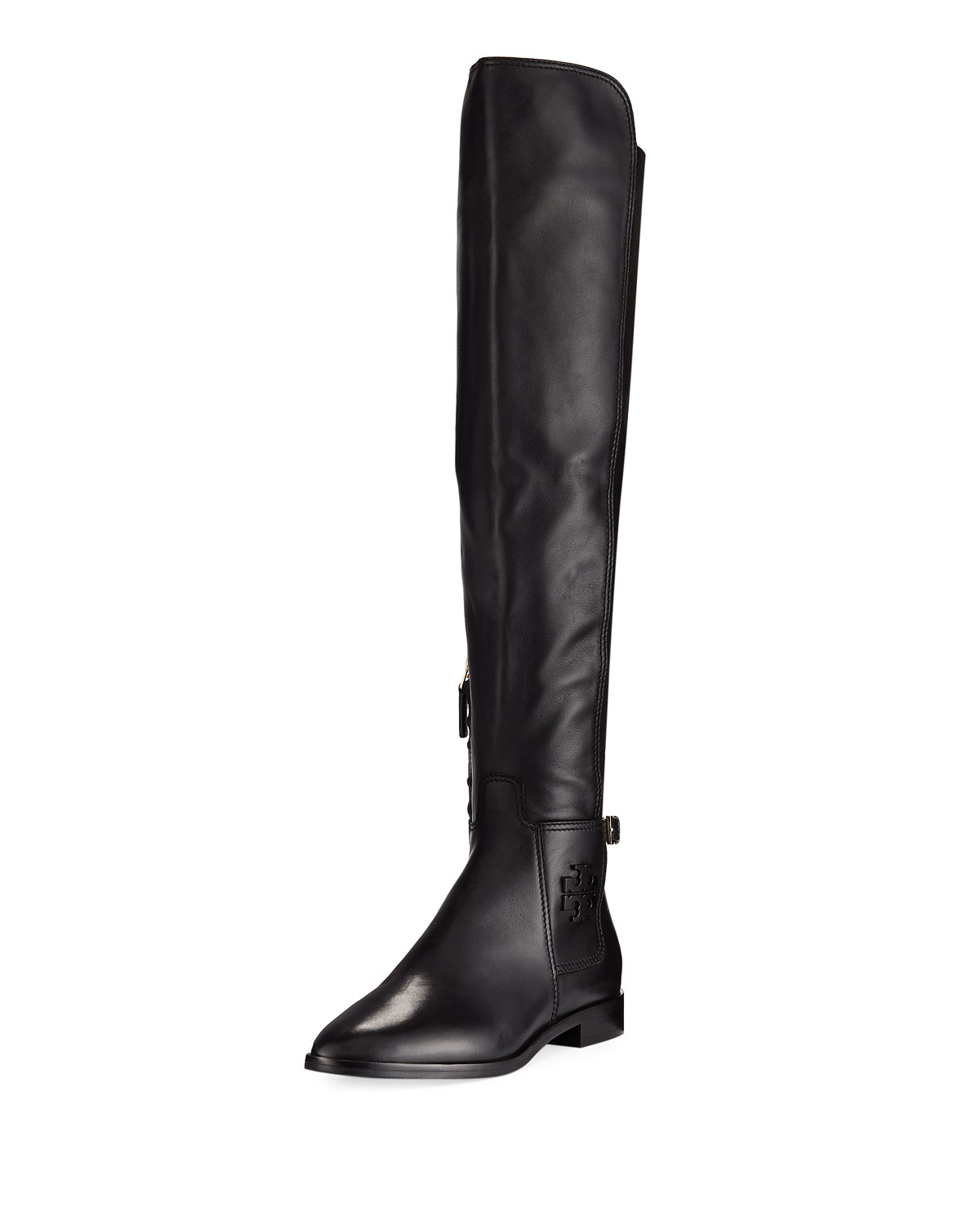 3b701d369 Tory Burch Wyatt Stretch Leather Over-The-Knee Boot