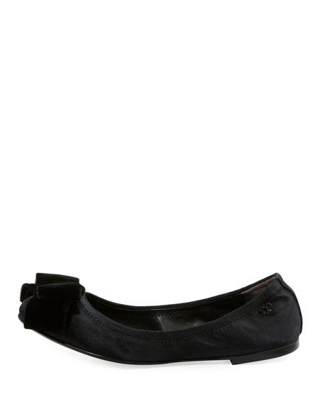 Viola Satin Bow Ballerina Flat