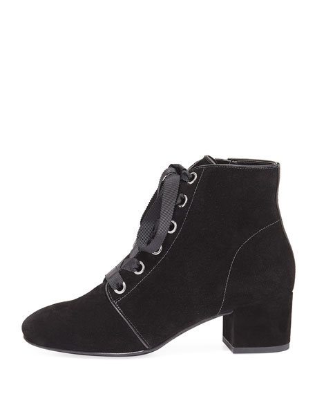 Cortes Lace-Up Suede Bootie