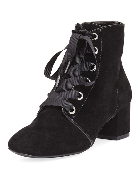 Donald J Pliner Cortes Lace-Up Suede Bootie