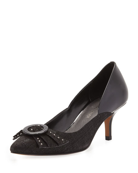 Donald J Pliner Felicity Bow Mixed Pump