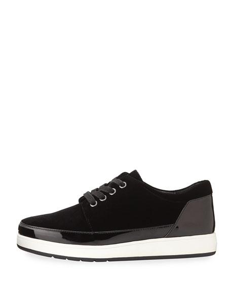 Miranda Tie Velvet Platform Sneakers