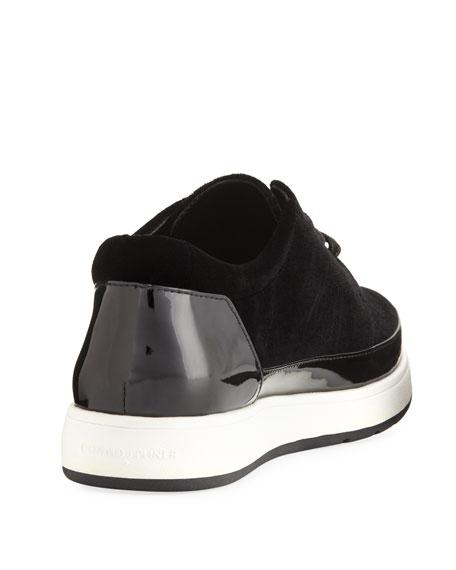 Miranda Tie Velvet Platform Sneaker