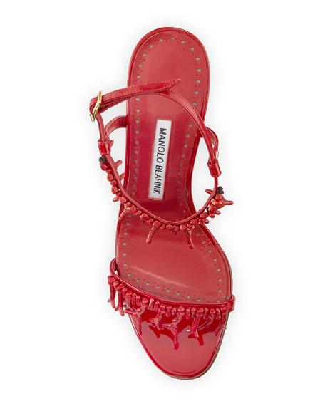 Cienzona Embellished Patent Sandal