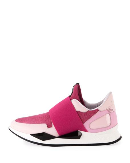 Mid-Top Elastic Runner Sneakers