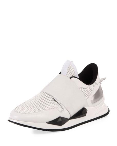 Stretch-Mesh Slip-On Runner Sneaker