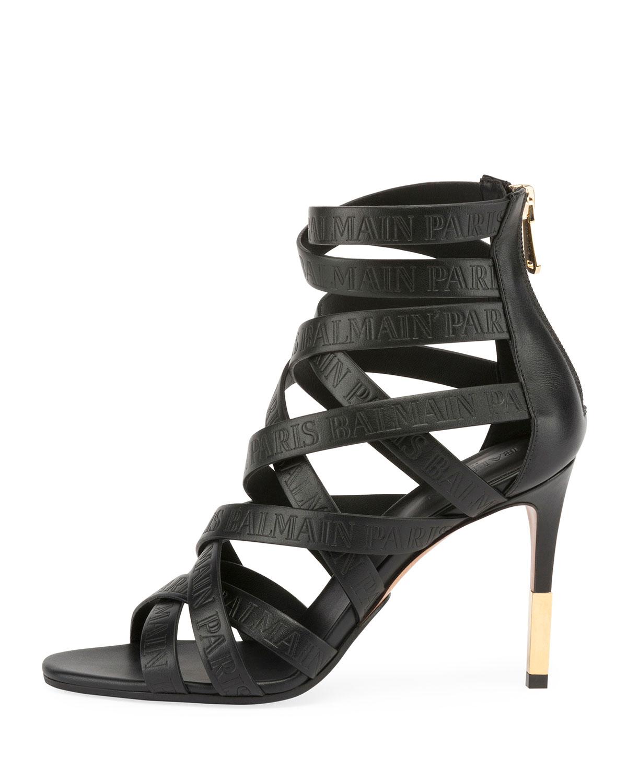 Balmain Charlotte Strappy Heeled Sandal fEV1CGNoDV