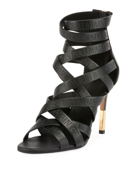 Balmain Charlotte Leather Sandals