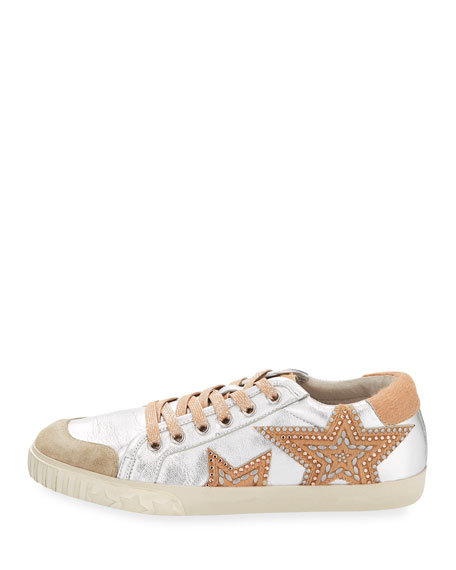 Mixed Leather Stars Sneakers