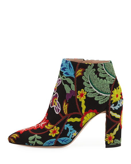 90MM BOOTIE WITH EMBROIDERY