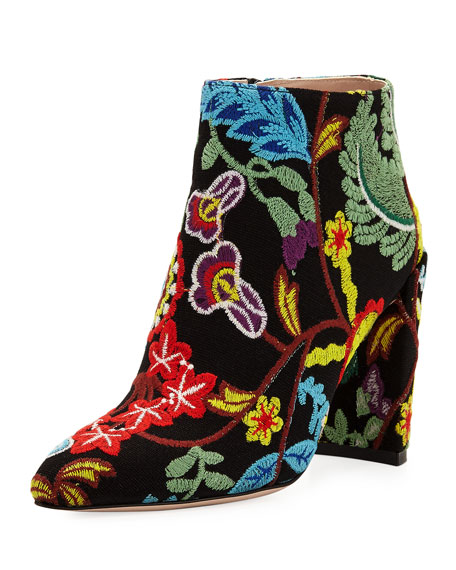 Pure Embroidered 90mm Booties