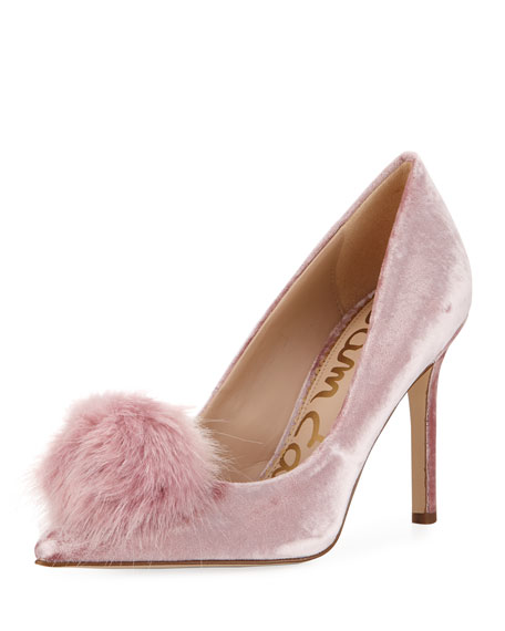 Sam Edelman Haroldson Velvet Pompom Pump, Faded Rose