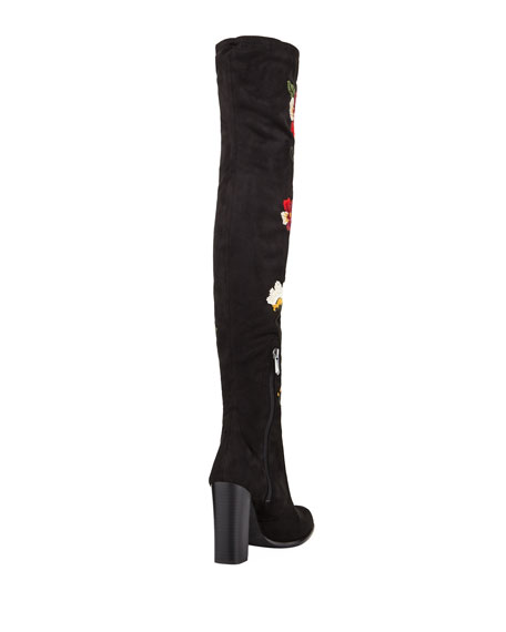 Vena Over-The-Knee Floral Boot