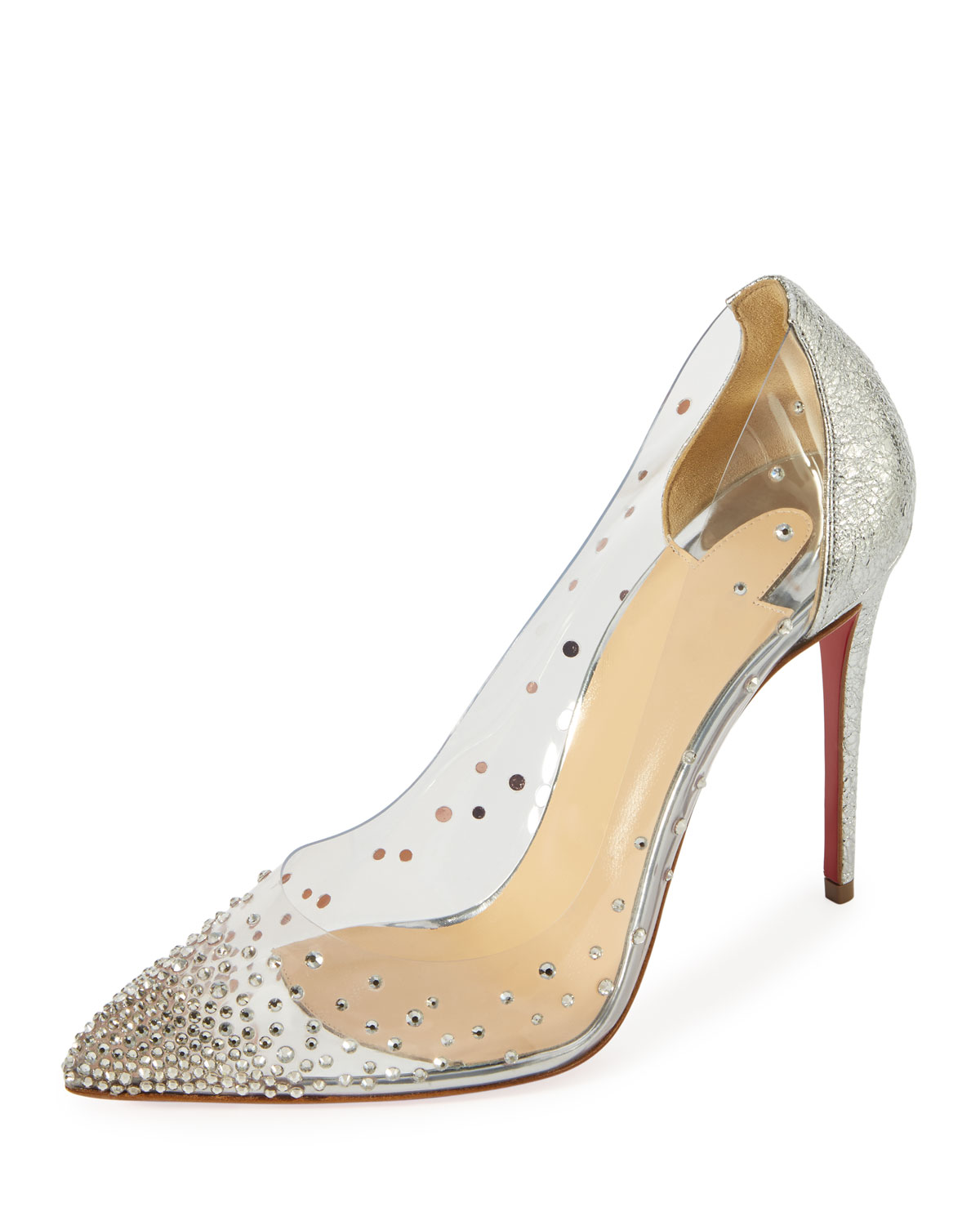6c6230a1cbd7 Christian Louboutin Degrastrass Vinyl 100mm Red Sole Pump