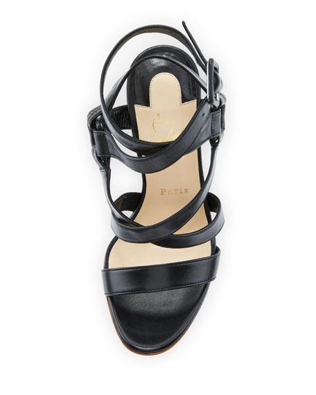 Corsini 120 Cross-Strap Red Sole Sandal