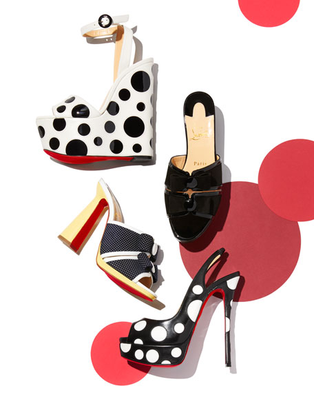 Bibariellita Polka-Dot Red Sole Sandal