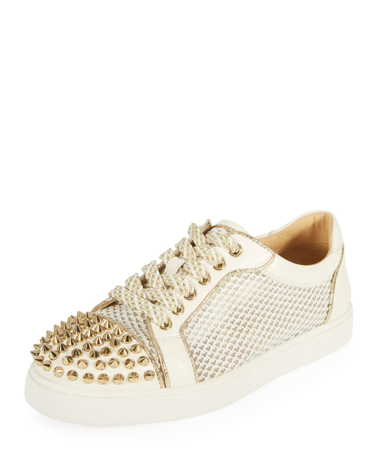 a0573490b890 Christian Louboutin AC Viera Spikes Red Sole Low-Top Sneakers ...