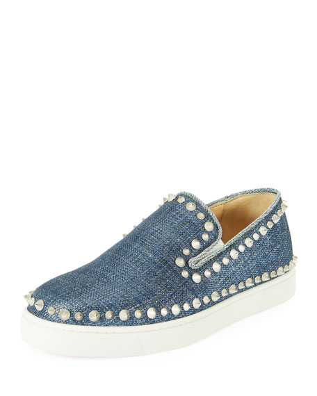 Pik Boat Denim Red Sole Sneaker