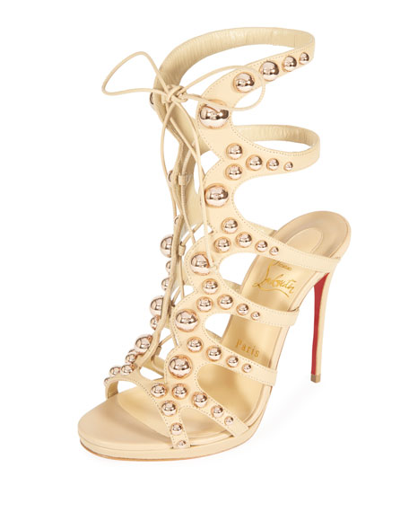 Amazoubille 120mm Napa Gladiator Red Sole Sandal