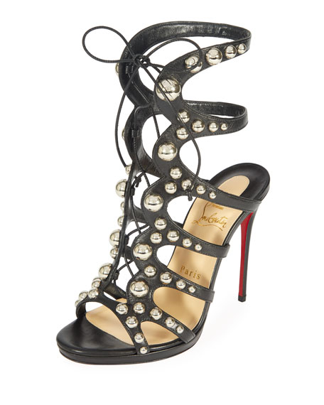 Christian Louboutin Amazoubille 120mm Kidskin Gladiator Red Sole