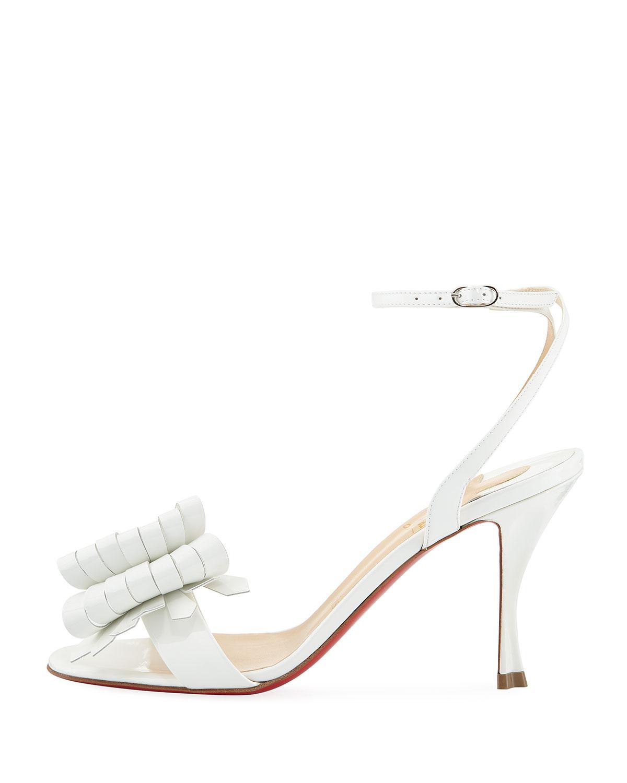wholesale dealer aca5a 183ca Miss Valois 85 Red Sole Sandal