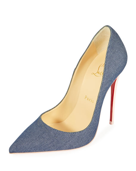 Christian Louboutin So Kate 120mm Denim Red Sole