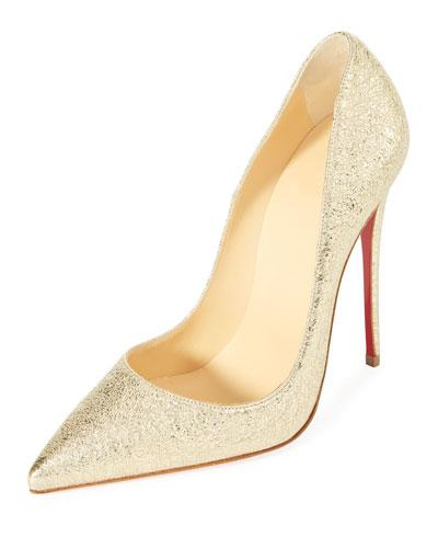 christian louboutin gold heels