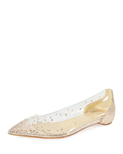 christian louboutin baby doll flats