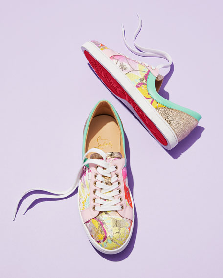 Christian Louboutin Flamingirl Printed Red Sole Sneaker