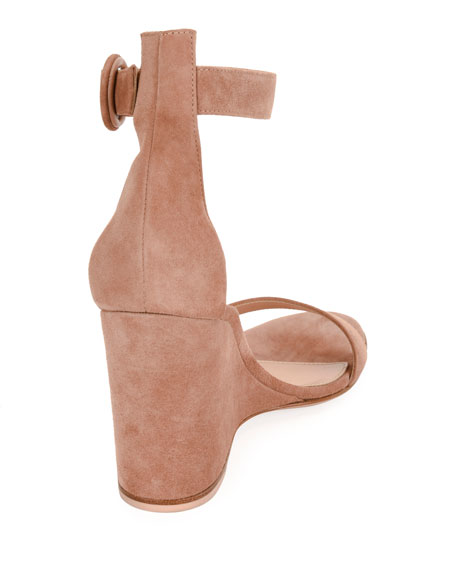 Portofino Suede Wedge 85mm Sandal