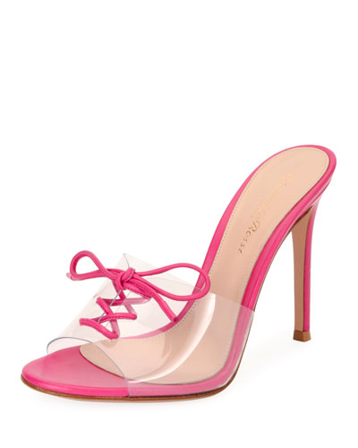 61bb78aeb91 Gianvito Rossi Plexi Corset 105mm Mule Sandal from Neiman Marcus ...