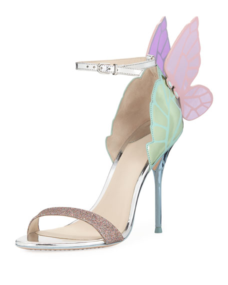 Sophia Webster Chiara Butterfly Wing 100mm Sandal