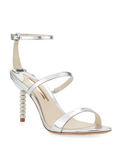 Rosalind 85mm Metallic Three-Strap Sandal
