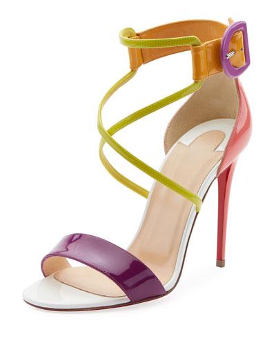 Choca Patent Red Sole Sandal