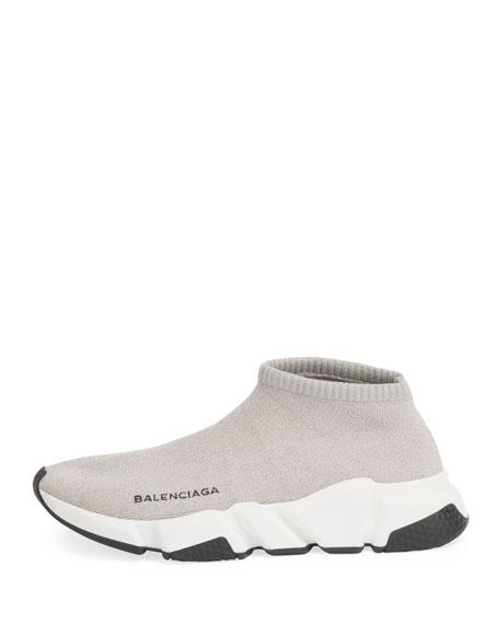 Metallic Knit Sock Sneakers