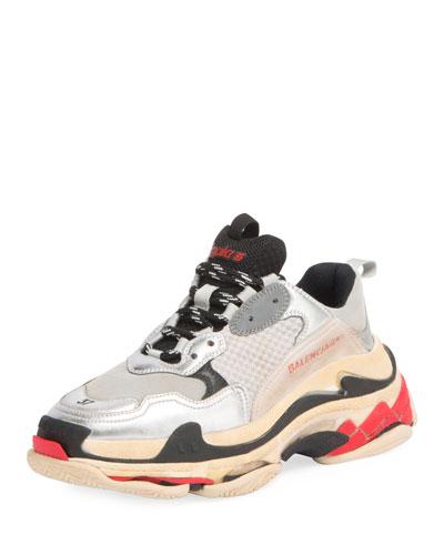 Triple Multicolor Platform Sneaker