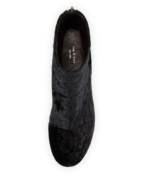 Drea Crushed Velvet Ankle Boot