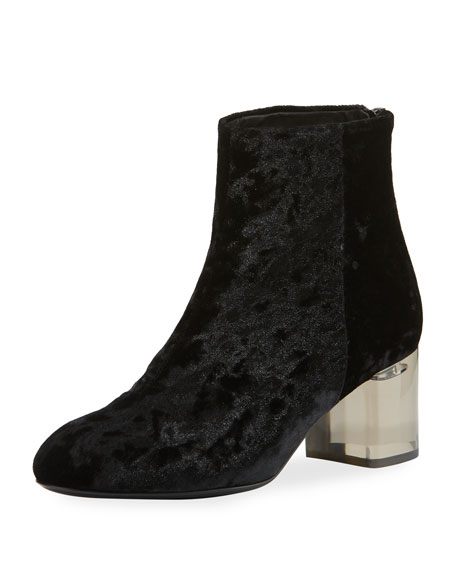 Drea Crushed Velvet Ankle Boot