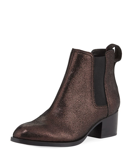 Rag & Bone Walker Metallic Leather Chelsea Bootie
