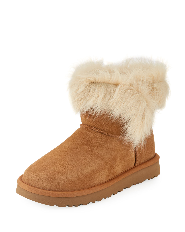 UGG Milla Mini Shearling-Trim Boot