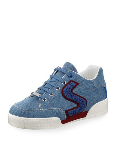 Vintage Denim Platform Sneaker