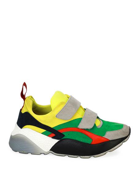 Colorblock Grip-Strap Platform Sneakers