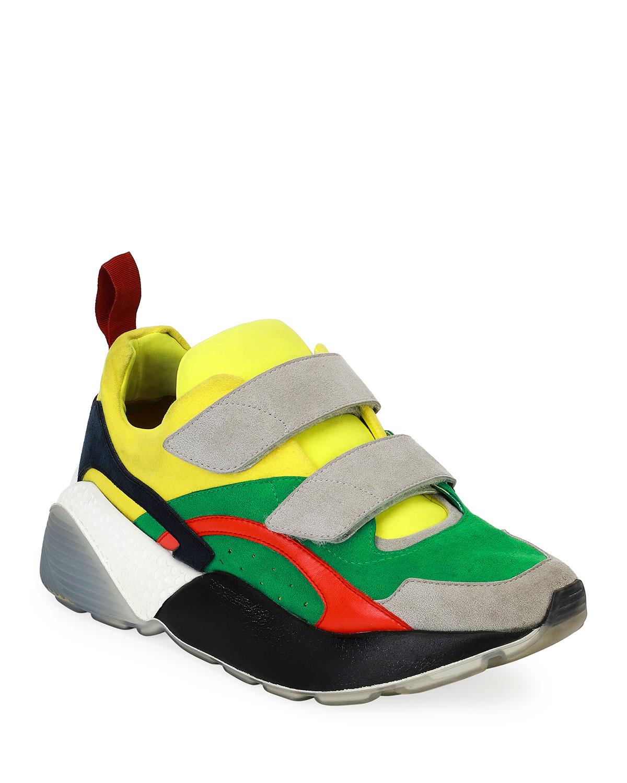 Stella McCartney Colorblock Grip-Strap Platform Platform Grip-Strap Sneakers e486f2