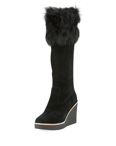 Valberg Toscana Wedge Knee High Boot