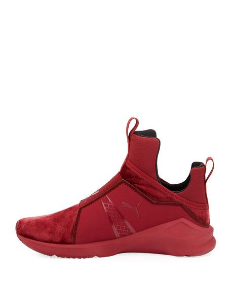 Fierce Velvet Stretch Sneaker, Brick