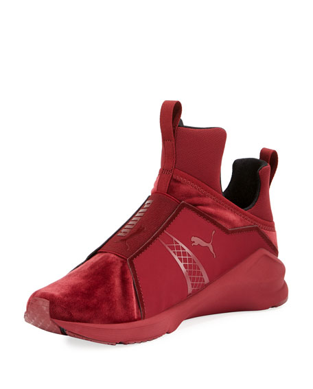 Puma Fierce Velvet Stretch Sneaker, Brick