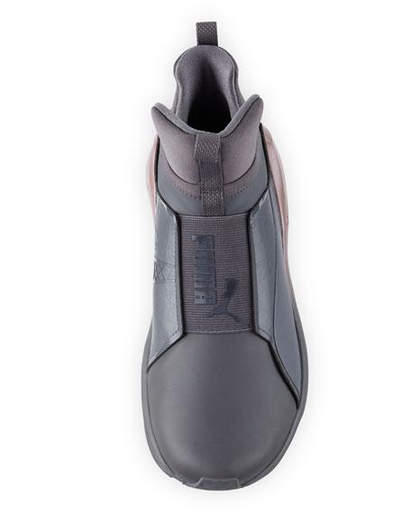 Fierce Chalet Leather Sneaker, Gray