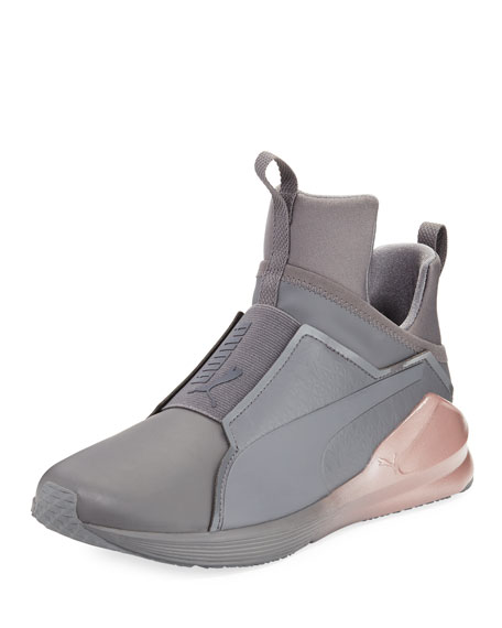 Fierce Chalet Leather Sneaker, Gray