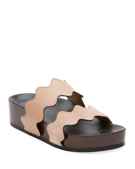 Chloe Lauren Two-Band Wedge Slide Sandal